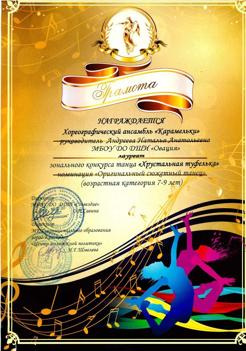 Поздравления для хореографического коллектива